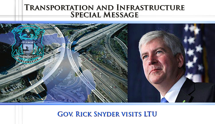 Gov Rick Snyder in CIMR